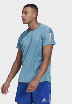 adidas Performance - RESPONSE PRIMEGREEN RUNNING SHORT SLEEVE TEE - Camiseta de deporte - Blue