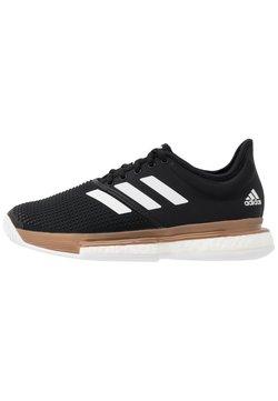 adidas Performance - SOLECOURT BOOST - Buty tenisowe uniwersalne - core black/footwear white/copper metallic
