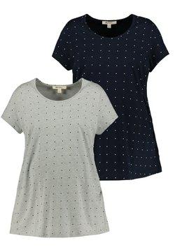 Ulla Popken - 2-PACK - T-Shirt print - grau-melange