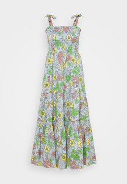 Tory Burch - PRINTED TIE SHOULDER DRESS - Freizeitkleid - wallpaper