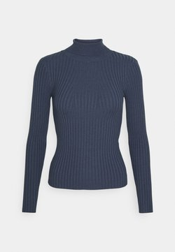 Pieces - PCCRISTA ROLL NECK  - Stickad tröja - ombre blue