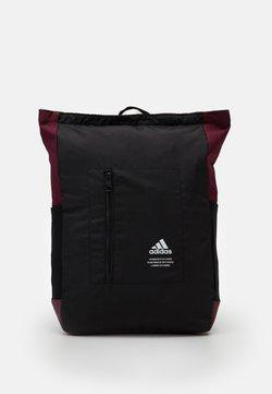 adidas Performance - TOP ZIP BACK TO SCHOOL SPORTS BACKPACK UNISEX - Reppu - black/maroon/white