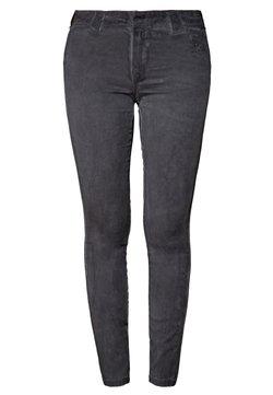 Queen Kerosin - MIT OILWASH EFFEK - Slim fit jeans - grau