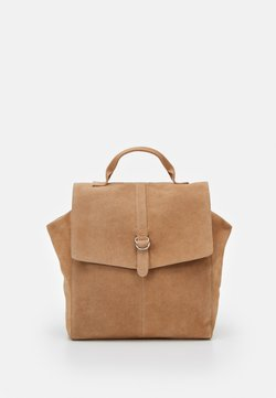 Even&Odd - LEATHER - Tagesrucksack - tan