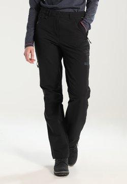 Jack Wolfskin - ACTIVATE WOMEN - Pantalones montañeros largos - black
