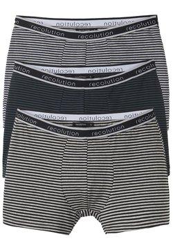 recolution - 3 PACK - Panties - black / navy / dark green / grey melange