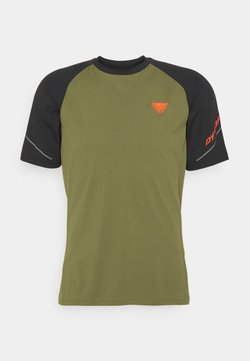 Dynafit - ALPINE PRO TEE - T-Shirt print - black out/winter moss