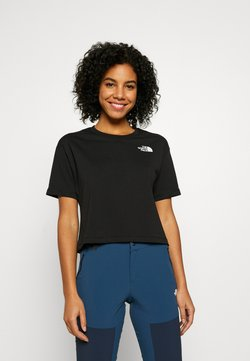 The North Face - CROPPED SIMPLE DOME TEE  - T-Shirt basic - black