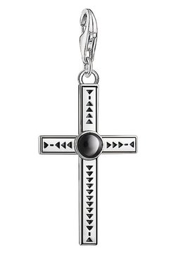 THOMAS SABO - CHARM ETHNO KREUZ  - Anhänger - silver-coloured, black