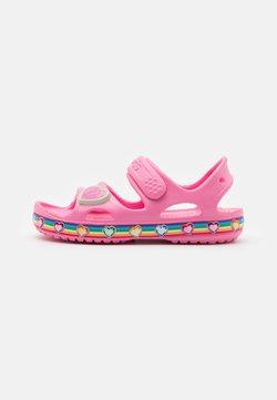 Crocs - FUN RAINBOW - Sandały kąpielowe - pink lemonade