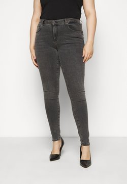 Selected Femme Curve - SLFINA SMOKE  - Jeans Skinny Fit - black denim