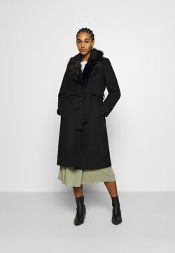 ONLY - ONLBERNA WRAP COAT - Wollmantel/klassischer Mantel - black
