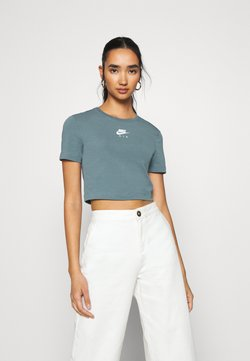 Nike Sportswear - AIR CROP - T-Shirt print - ozone blue