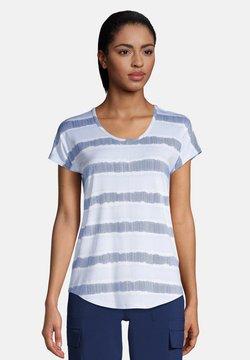LANDS' END - T-Shirt print - blue/white dyed stripe
