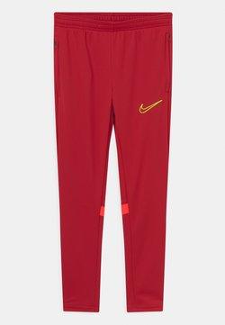 Nike Performance - ACADEMY 21 UNISEX - Spodnie treningowe - gym red/bright crimson/volt