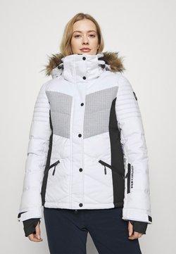 Superdry - SNOW LUXE PUFFER - Laskettelutakki - white
