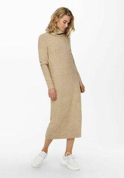ONLY - EXTRALANG - Stickad klänning - toasted coconut