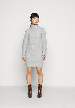 Miss Selfridge Petite - COSY ROLL NECK MINI DRESS - Vestido de punto - grey