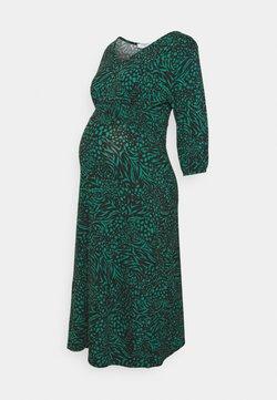 Dorothy Perkins Maternity - MATERNITY SHIRRED WAIST MIDI DRESS - Vestido ligero - green
