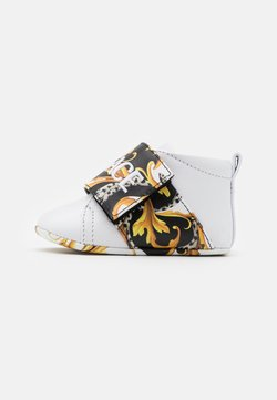 Versace - RICAMO ACANTHU UNISEX - Chaussons pour bébé - white/black/gold