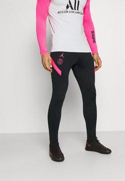 Nike Performance - PARIS ST GERMAIN PANT - Jogginghose - black/hyper pink/hyper pink