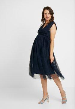 Anaya with love Maternity - GATHERED V FRONT MIDI DRESS - Cocktail dress / Party dress - navy