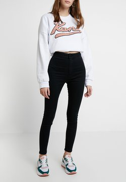 Cotton On - HIGH RISE - Jeans Skinny Fit - solid black