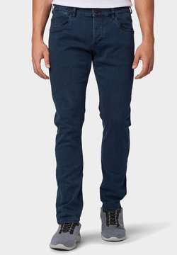 TOM TAILOR - TROY - Jeans Slim Fit - dark stone blue black denim