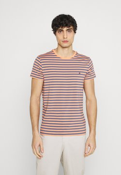 Tommy Hilfiger - STRETCH TEE - T-shirt con stampa - faded indigo/summer sunset