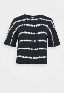 Noisy May Curve - NMBUSTER TIE DYE - T-Shirt print - black