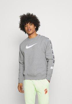 Nike Sportswear - REPEAT CREW - Sweatshirt - grey heather/white/black