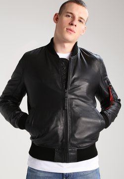 Alpha Industries - Giacca di pelle - black