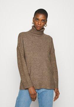 Zign - Long line seam detail - Sweter - light brown
