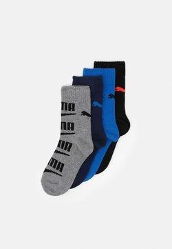 Puma - BOYS SEASONAL LOGO SOCK 4 PACK - Socken - grey/black blue