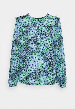 Marks & Spencer London - FRILL SHOULDER - Bluse - blue