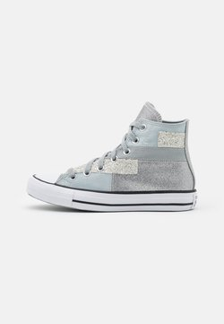 Converse - CHUCK TAYLOR ALL STAR GLITTER PATCH - Sneakersy wysokie - ash stone/black/white