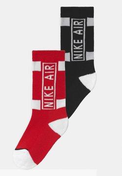 Nike Sportswear - AIR CREW 2 PACK UNISEX - Socken - university red