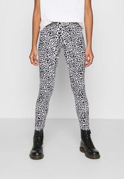Noisy May - NMKERRY ANILLA   - Leggings - Hosen - bright white/black