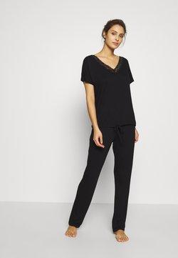 LASCANA - LAS BASIC SET - Pyjama - black