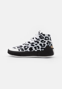 adidas by Stella McCartney - ASMC TREINO MID PRINTED - Kuntoilukengät - footwear white/core black/cloud white