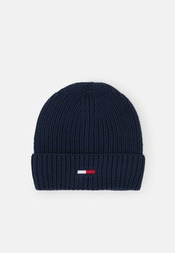 Tommy Jeans - BASIC FLAG BEANIE UNISEX - Muts - blue