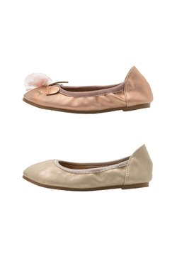 Cotton On - PRIMO BALLET FLAT 2 PACK - Klassischer  Ballerina - matte rose/gold shimmer
