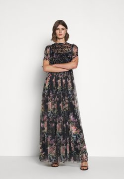 Needle & Thread - FLORAL DIAMOND BODICE MAXI DRESS - Ballkleid - graphite