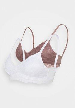 Anna Field - 2 PACK - Kaarituettomat rintaliivit - white/pink