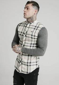 SIKSILK - GRANDAD  - Hemd - off-white/grey