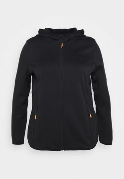 ONLY Play - ONPJETTA HOOD CURVY - Veste polaire - black