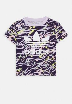 adidas Originals - TEE - T-shirt print - depp purple/multicolor