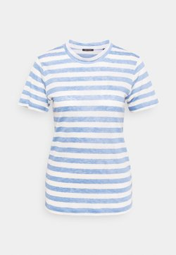 Marc O'Polo - SHORT SLEEVE ROUND NECK SLIM FIT STRIPED - T-Shirt print - mutli/washed cornflower
