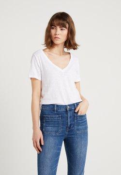 J.CREW - VINTAGE V NECK TEE - T-shirt basique - white