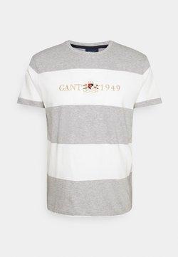 GANT - FLAG CREST - T-Shirt print - grey melange